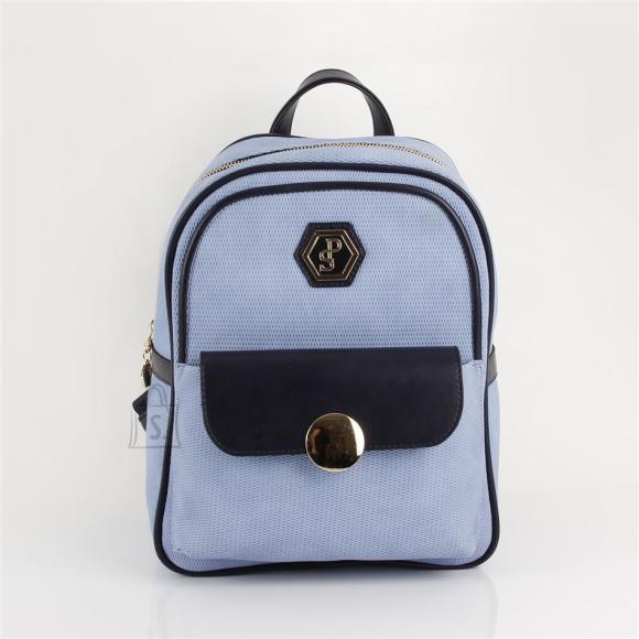 Silver & Polo Naiste seljakott klapp-taskuga Silver&Polo 871, helesinine/tumesinine