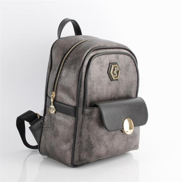 Silver & Polo Naiste seljakott klapp-taskuga Silver&Polo 871, metalne/must