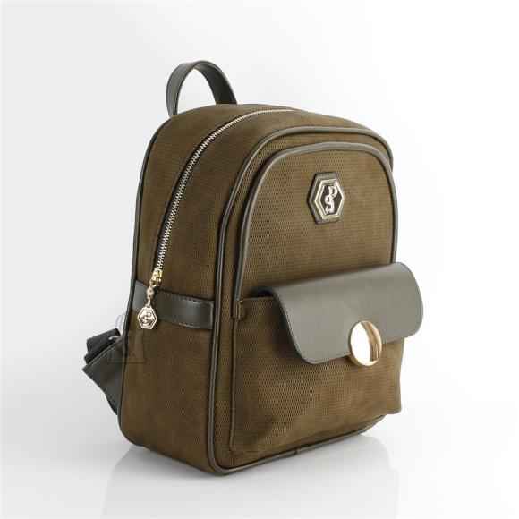 Silver & Polo Naiste seljakott klapp-taskuga Silver&Polo 871, khakiroheline
