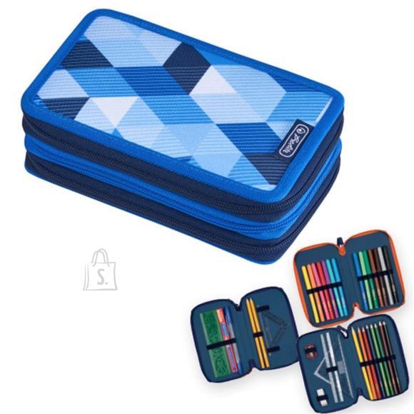 Herlitz Täidetud pinal 3 lukuga, 31 osa Blue Cubes
