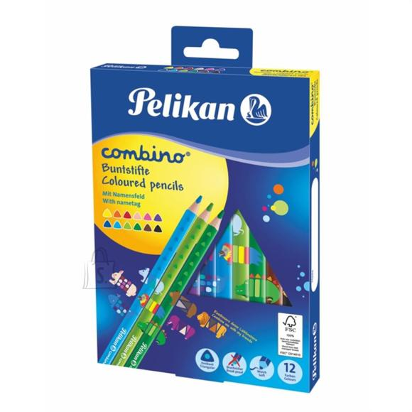 Pelikan Värvipliiats 12 värvi  Pelikan Combino jäme kolmn. SOFT