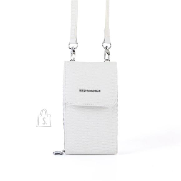Silver & Polo Naiste õlakott telefonile Silver&Polo 889, valge kärjemustriga