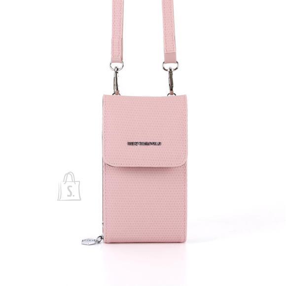 Silver & Polo Naiste õlakott telefonile Silver&Polo 889, roosa kärjemustriga