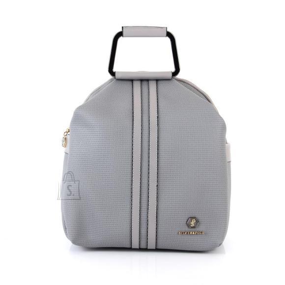 Silver & Polo Naiste seljakott sangaga Silver&Polo 771, kärjemustriga, helehall