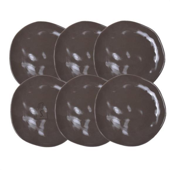 Bradley Keraamilised desserditaldrikud ORGANIC 20cm pruun 12tk