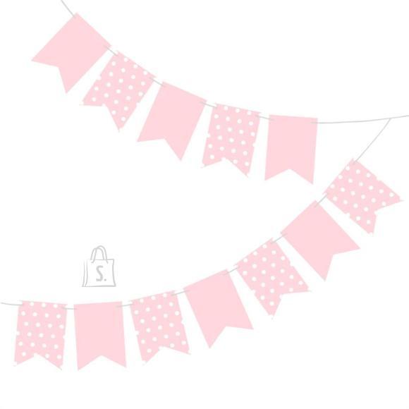 Herlitz Banner M&M täpiline roosa 2,5m