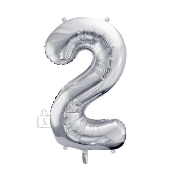 Fooliumist numbri õhupall nr.2 35cm