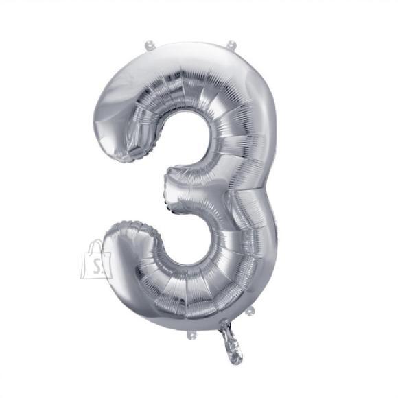 Fooliumist numbri õhupall nr.3 35cm