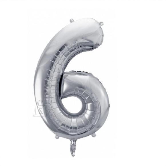 Fooliumist numbri õhupall nr.6 35cm