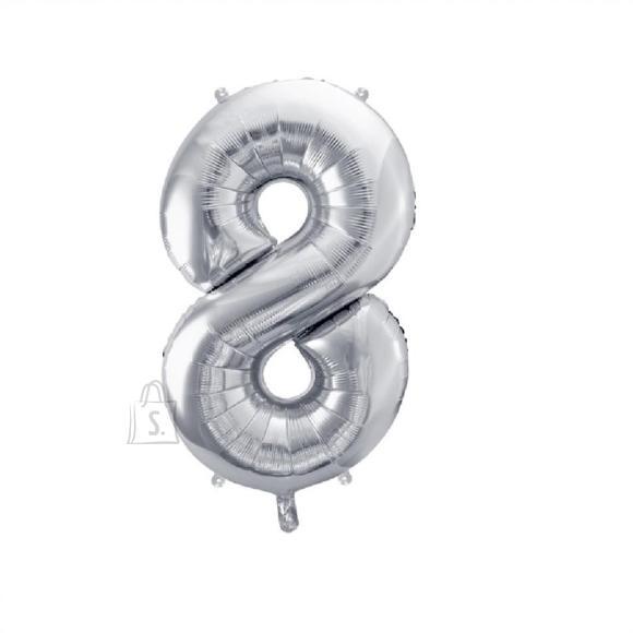 Fooliumist numbri õhupall nr.8 35cm