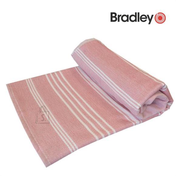 Bradley Rannalina 90x170 sile/frotee triibuline roosa