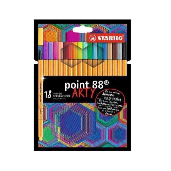 Stabilo Tindipliiats point 88 18 värvi  - uus