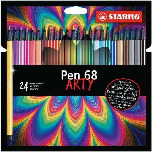 Stabilo Tindipliiats Stabilo pen 68 24 värvi