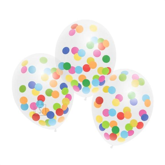 Herlitz Õhupallid värviliste konfettidega, 3 tk