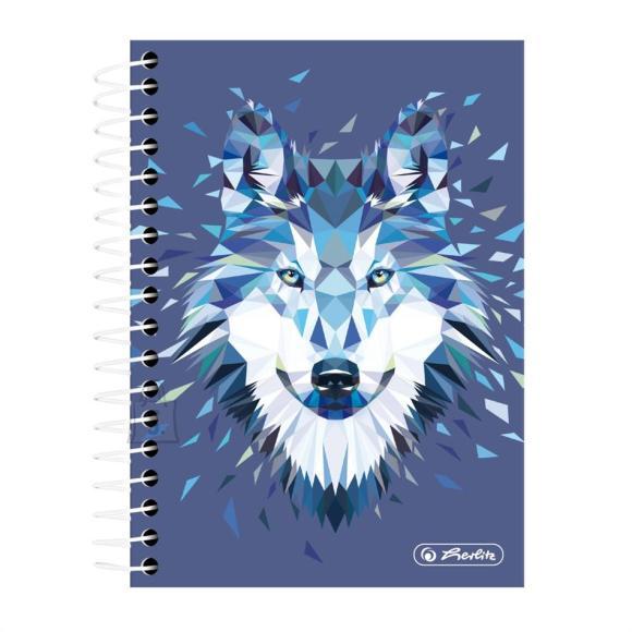 Herlitz Spiraalmärkmik Wild Animals / Hunt - A6/200, ruuduline