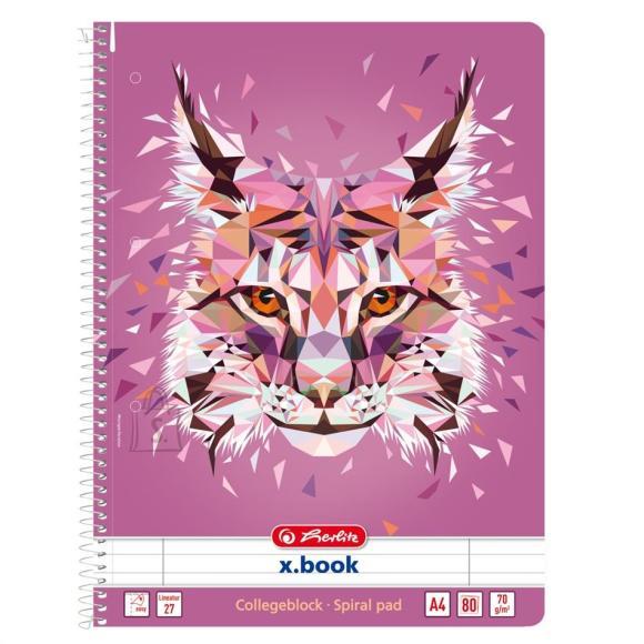 Herlitz Spiraalkaustik Wild Animals /Ilves - A4/80, jooneline