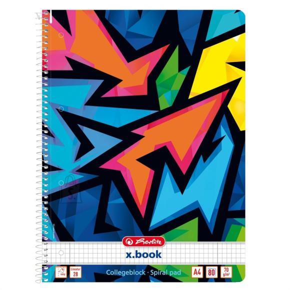 Herlitz Spiraalkaustik Neon Art - A4/80, ruuduline