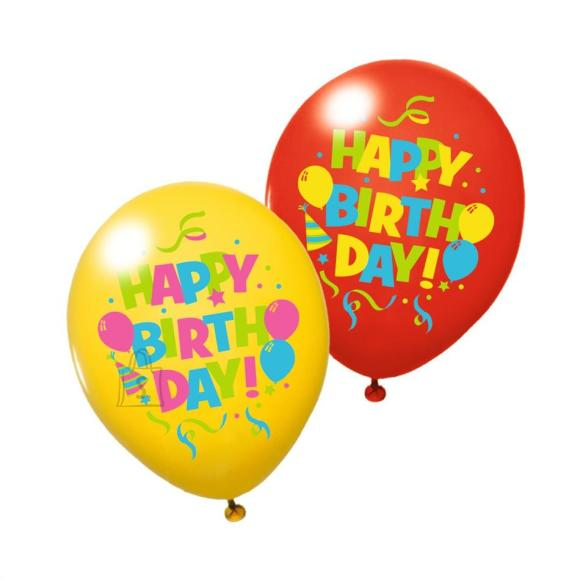 "Herlitz Õhupallid ""Happy Birthday"",  6 tk"