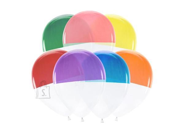 PartyDeco Õhupallid - kahevärvilised, 7 tk, 30 cm
