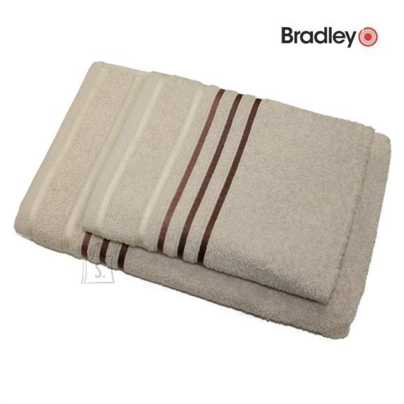 Bradley Froteerätik 70 x 140 cm, triibulise bordüüriga, beež