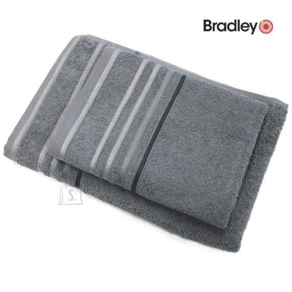 Bradley Froteerätik 70 x 140 cm, triibulise bordüüriga, hall