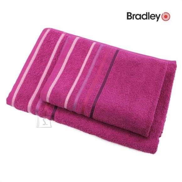 Bradley Froteerätik 70 x 140 cm, triibulise bordüüriga, tumeroosa