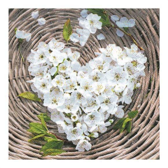 Herlitz Salvrätik 33x33/20, Flower Heart