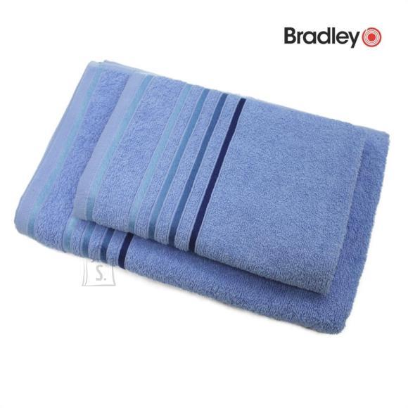 Bradley Froteerätik 70 x 140 cm, triibulise bordüüriga, sinine