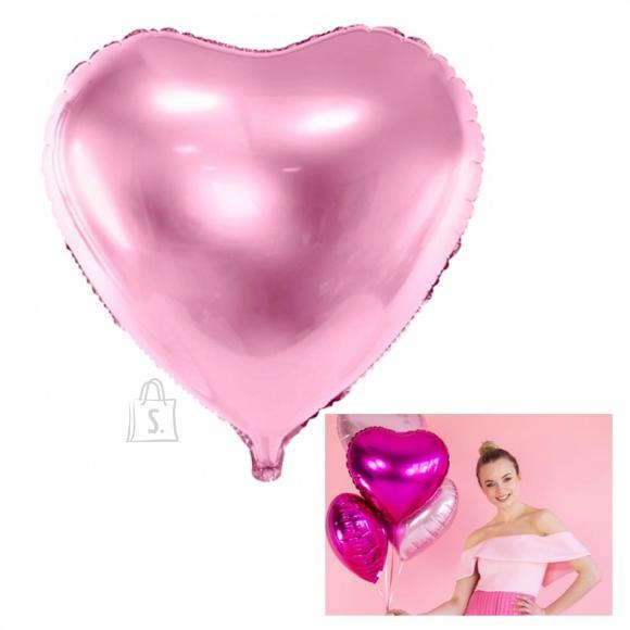 """PartyDeco Fooliumist õhupall """"Süda"""" - 45 cm, roosa"""