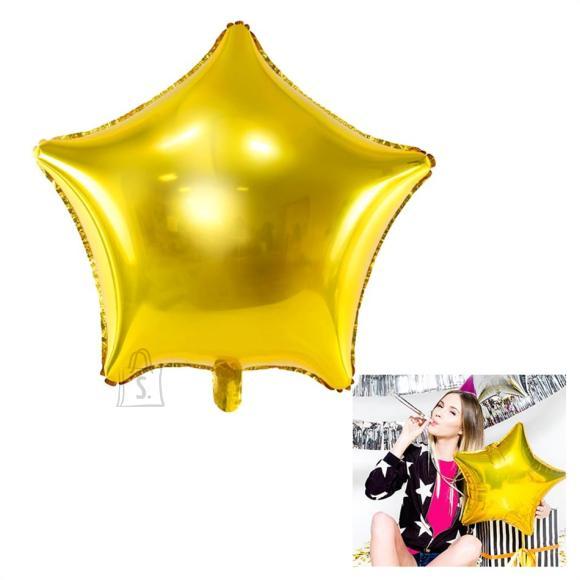 """Fooliumist õhupall """"Täht"""" - 48 cm, kuldne"""