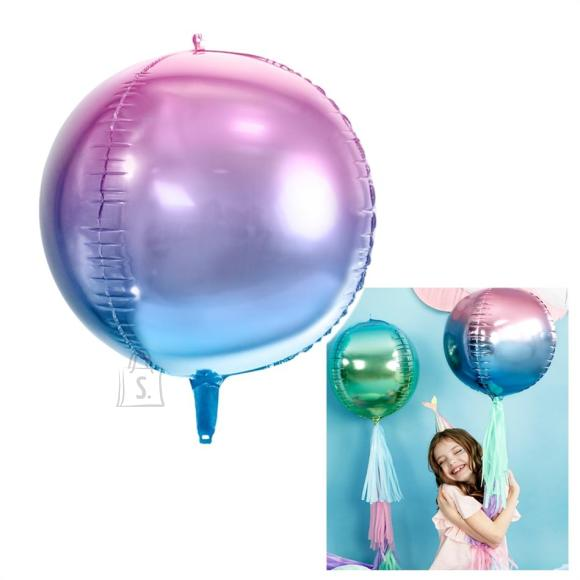 PartyDeco Fooliumist õhupall - 35 cm, sinine/violetne