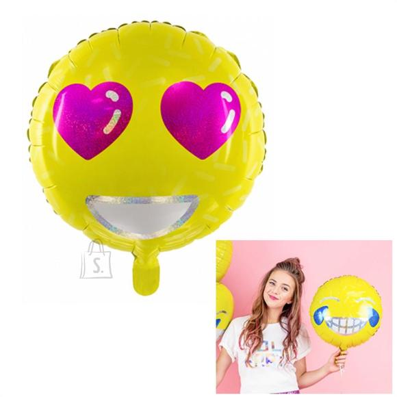 """PartyDeco Fooliumist õhupall """"Emotikon"""", 45 cm"""