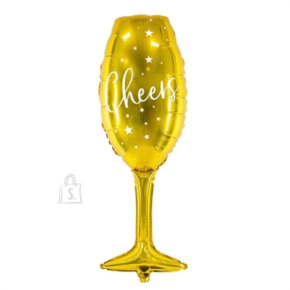 """PartyDeco Fooliumist õhupall """"Pokaal"""" - 28  x 80 cm, kuldne"""