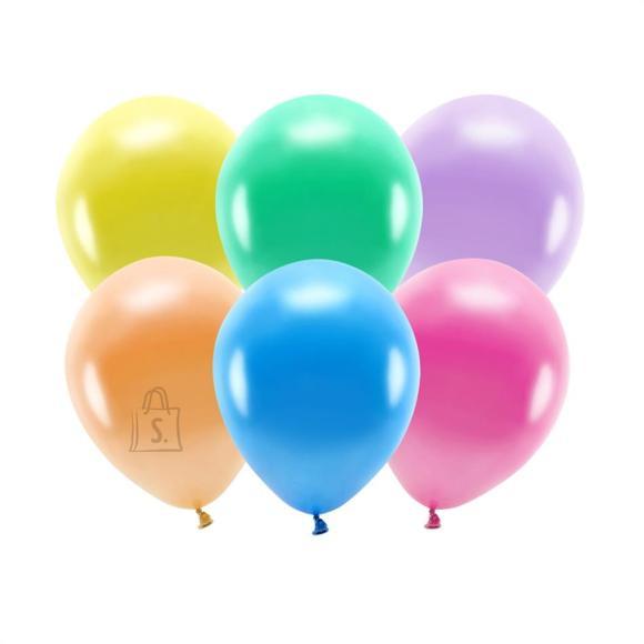 """PartyDeco Õhupallid 10 tk - """"Öko"""", metallikvärvide assortii, 30 cm"""