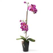 Heleroosa kunstlill orhidee