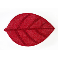 Lauamatt Leaf 45 x 30 cm punane