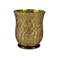 Küünlaalus Mosaic kuldne