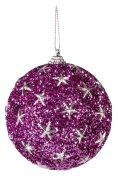 Jõuluehe Glitter Purple Ø8 cm