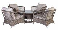 Aiamööbli komplekt Sunsera laud + 4 tooli