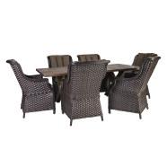 Aiamööblikomplekt Geneva laud ja 6 tooli