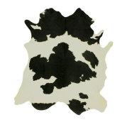 Veisenahast vaip must-valge  2-3m²