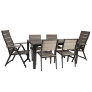 Aiamööblikomplekt Monta laud ja 6 tooli