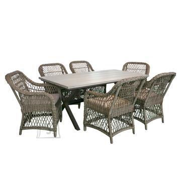 Aiamööbel Laurino laud + 6 tooli