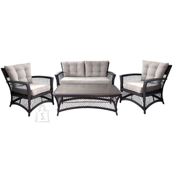 Aiamööbli komplekt Clasic laud, diivan ja 2 tooli