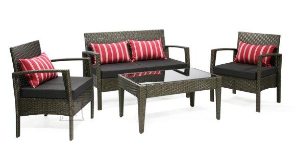 Aiamööbli komplekt Virgo laud + diivan + 2 tooli