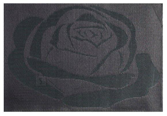 Lauamatt Textiline pruun/roos