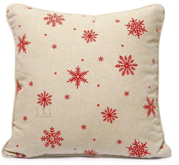 Dekortiivpadi Red & White beež/punane 45x45 cm