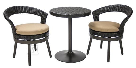 Aiamööbli komplekt Stella laud + 2 tooli
