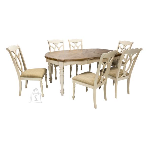 Söögitoakomplekt Lily laud + 6 tooli