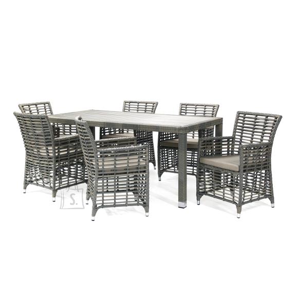 Aiamööbli komplekt Zenica laud ja 6 tooli